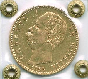 obverse: UMBERTO I - 100 Lire 1883
