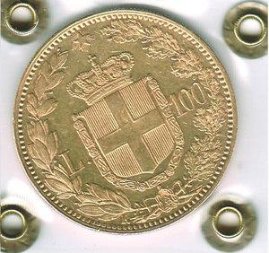 reverse: UMBERTO I - 100 Lire 1883