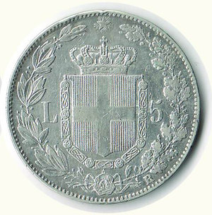 reverse: UMBERTO I - 5 Lire 1879