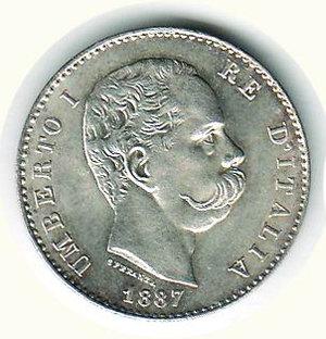 obverse: UMBERTO I - Lira 1887