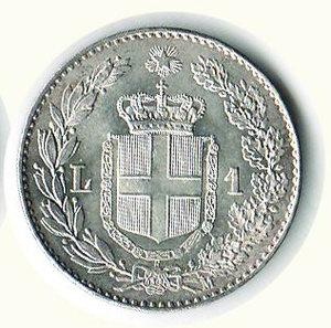 reverse: UMBERTO I - Lira 1887