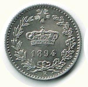 obverse: UMBERTO I - 20 Cent. 1894 - RO