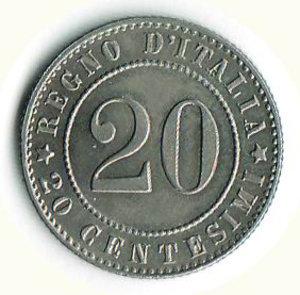 reverse: UMBERTO I - 20 Cent. 1894 - RO