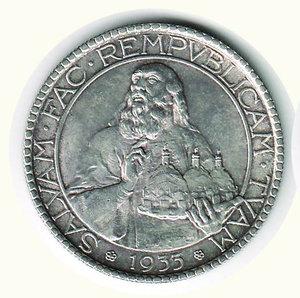 D/ SAN MARINO - 20 Lire 1933. AR - q.FDC