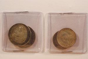 D/ SAN MARINO - 10 Lire 1931 e 1933; 5 Lire 1935 e 1936 - Totale 4 monete - Da esaminare. AR - BB/q.SPL