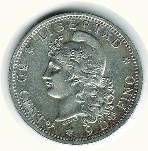 obverse: ARGENTINA - 50 Cent. 1883