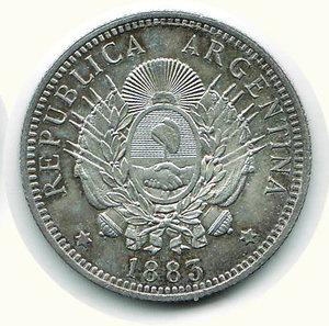 reverse: ARGENTINA - 50 Cent. 1883