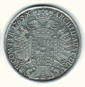 reverse: AUSTRIA - Maria Teresa - Tallero 1765