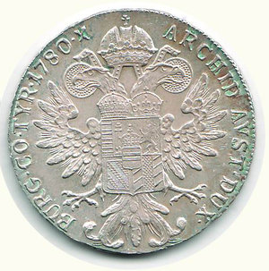 reverse: AUSTRIA M. Teresa - Tallero 1780