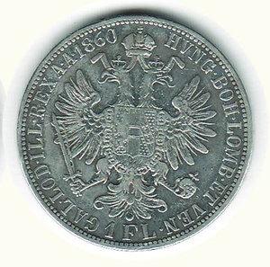 reverse: AUSTRIA - Francesco Giuseppe - Fiorino 1860