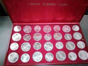 obverse: CANADA XXI Olimpiade 1976 - serie di 28 monete d argento