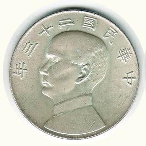 obverse: CINA - Dollaro Shanghai 1933