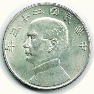 obverse: CINA - Dollaro 1934