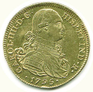 obverse: COLOMBIA - Carlo IV - 8 Escudos 1795