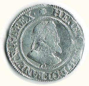 obverse: FRANCIA Enrico IV 1/2 Franc