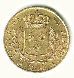 reverse: FRANCIA - Luigi XVIII - 20 Franchi 1814