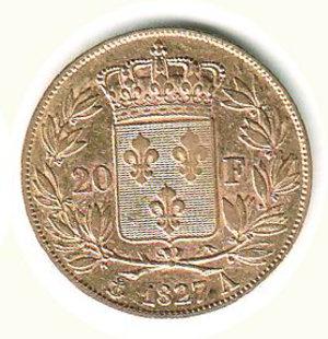 FRANCIA - Carlo X - 20 Franchi 1827