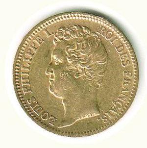 obverse: FRANCIA - Luigi Filippo - 20 Franchi 1831