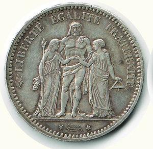 obverse: FRANCIA Repubblica - 5 Francs 1875