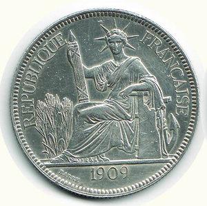 obverse: FRANCIA - Indocina Francese - Piastre de Commerce 1909 A