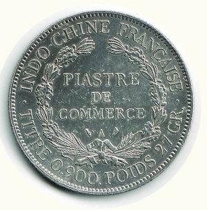 reverse: FRANCIA - Indocina Francese - Piastre de Commerce 1909 A