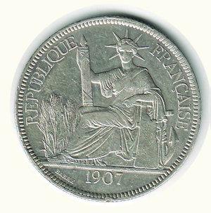obverse: INDOCINA FRANCESE - Piastra di commercio 1907