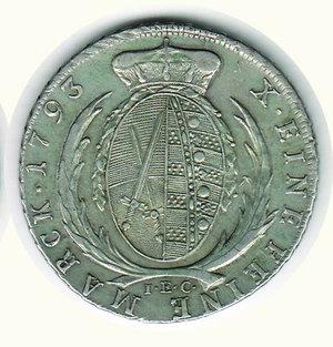 reverse: GERMANIA - Antichi Stati - Federico Augusto Elettore di Sassonia - Tallero 1793