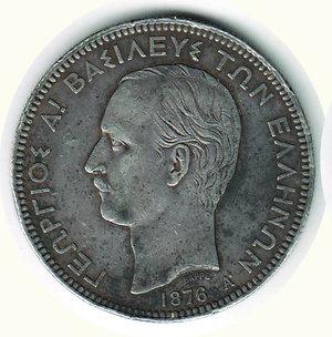 obverse: GRECIA - Giorgio - 5 Dracme 1876