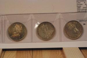 obverse: INDIA BRITANNICA - Lotto di 4 monete