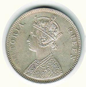 obverse: INDIA - Protettorato Britannico - Vittoria 1862 - Rupia