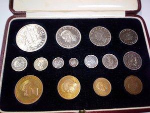 obverse: INGHILTERRA Giorgio VI serie annuale 1937 di 15 pezzi