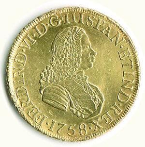 obverse: PERU  - Ferdinando VI - 8 Escudos 1758