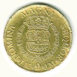 reverse: PERU  - Ferdinando VI - 8 Escudos 1758