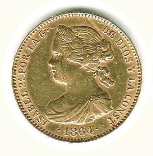 obverse: SPAGNA - Isabella II - 100 Reales 1864