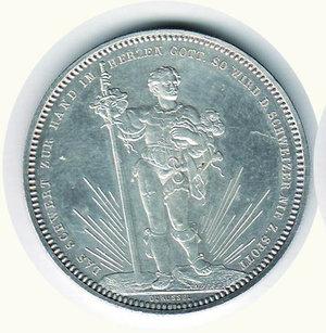 obverse: SVIZZERA - Tiri federali Basilea - 5 Franchi 1879