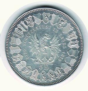 reverse: SVIZZERA - Tiri federali Basilea - 5 Franchi 1879