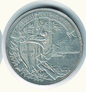 obverse: SVIZZERA - Tiri federali Lugano - 5 Franchi 1883