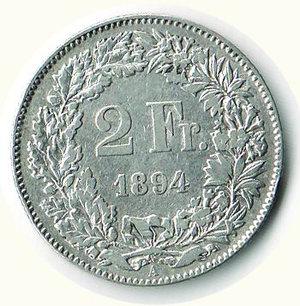 reverse: SVIZZERA 2 Franchi 1894 - B -