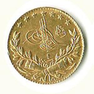 obverse: TURCHIA Mohammed V 25 Piastre