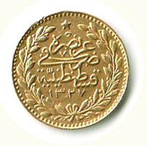reverse: TURCHIA Mohammed V 25 Piastre