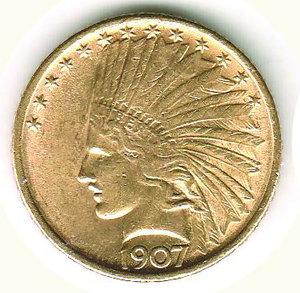 obverse: USA - 10 Dollars 1907
