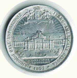 reverse: COLOMBO - IV centenario scoperta dell America