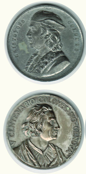obverse: COLOMBO - 2 medaglie