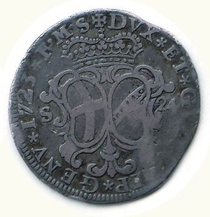 reverse: GENOVA Dogi biennali 1723