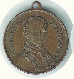 obverse: LEONE XIII elezione al papato 1878 - diam. 30 mm.