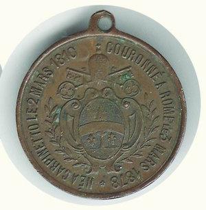 reverse: LEONE XIII elezione al papato 1878 - diam. 30 mm.