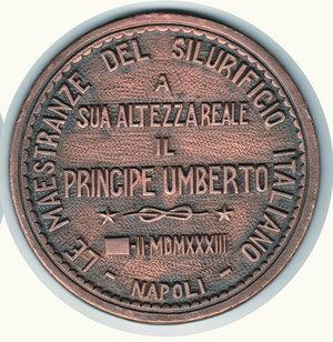 reverse: S.A.R. Il Principe Umberto 1933 - Napoli - diam 112 mm