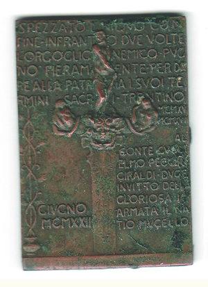 obverse: GRANDE GUERRA - Guglielmo Pecori - Giraldi placchetta