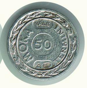 reverse: MOKA Termini - 50 centesimi