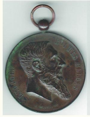 obverse: BELGIO - Leopoldo II - Comizio agricolo 1900
